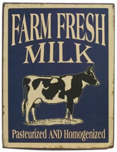 Farm Fresh Milk vintage sign